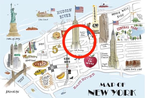 Carte NY Flatiron