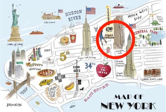 Carte NY Midtown